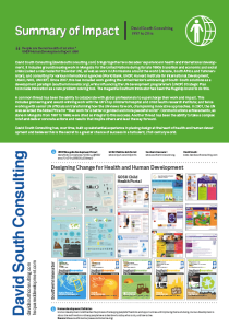 DS Consulting Impact Summary 2015